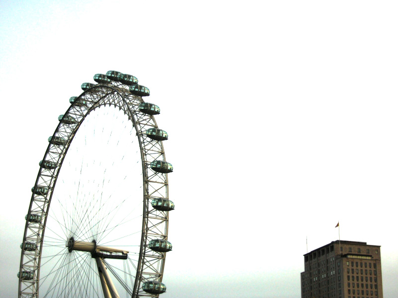 London Eye and the Shell Centre