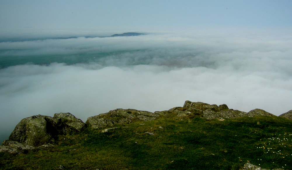 Above the clouds on the Llyn Peninsula