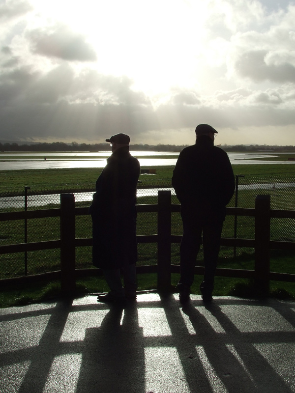 Two men at Manchester Airport Viewing Park