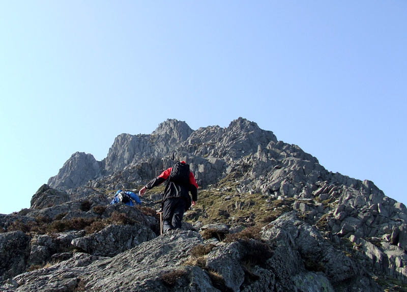 Walking up Tryfan