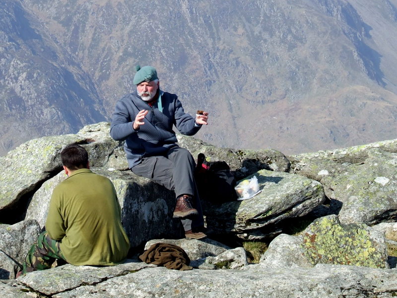 Two men and a discussion on Tryfan