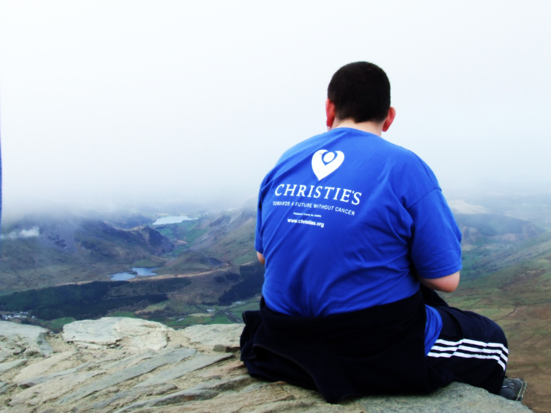 Christies Charity at the top of Snowdon