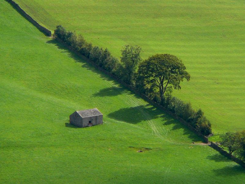 A barn, from Shutlingsloe