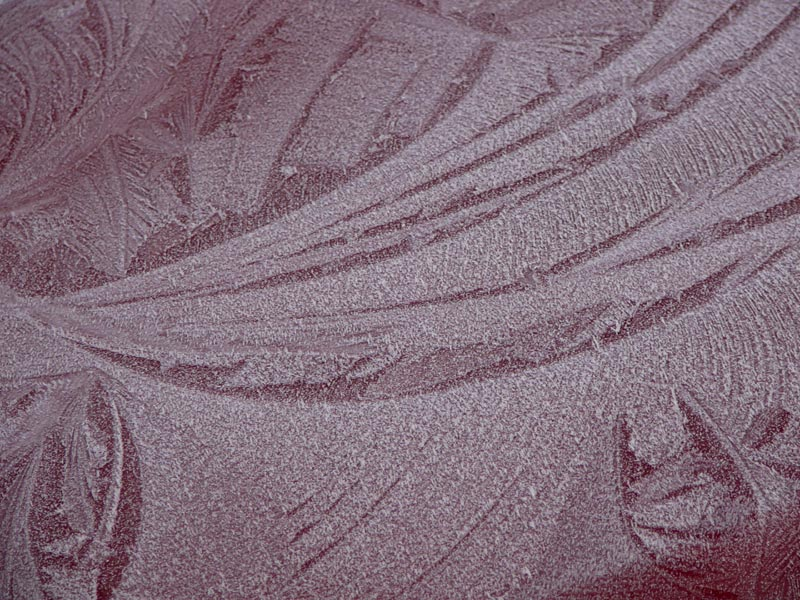Frost on a car