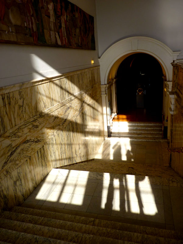 Stair shadows, Victoria and Albert Museum, London