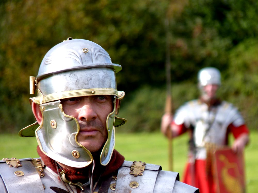 Tough roman soldier