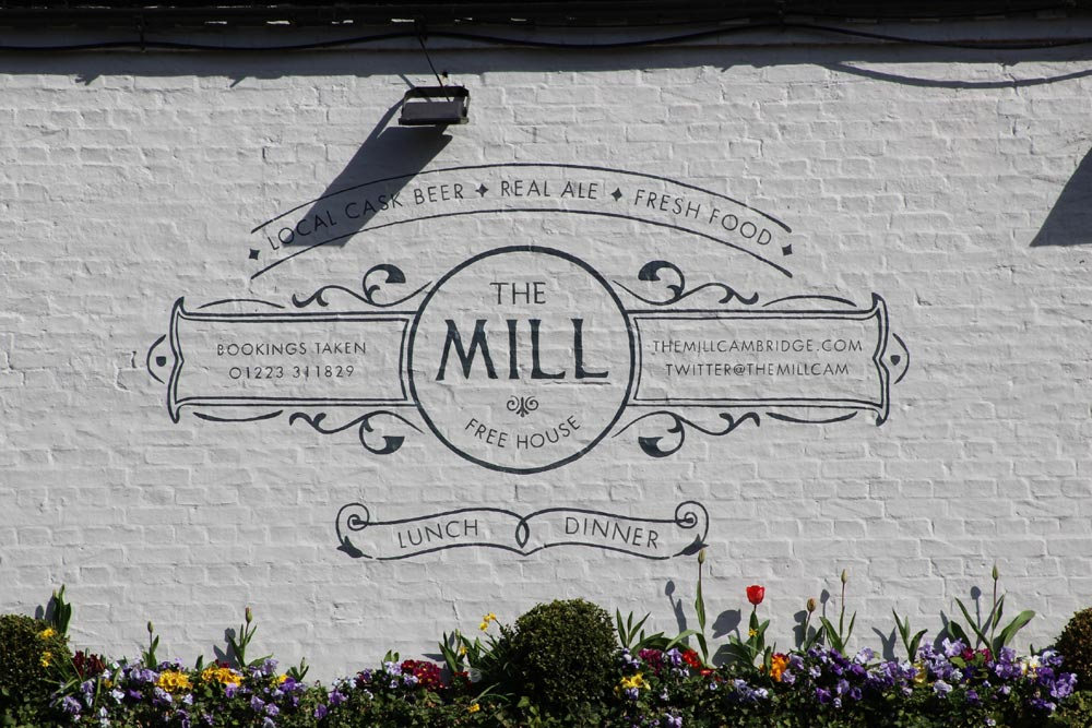 The Mill sign