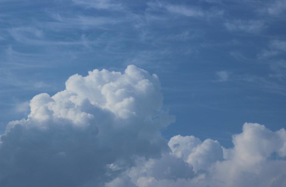 Cirrus and nimbus clouds