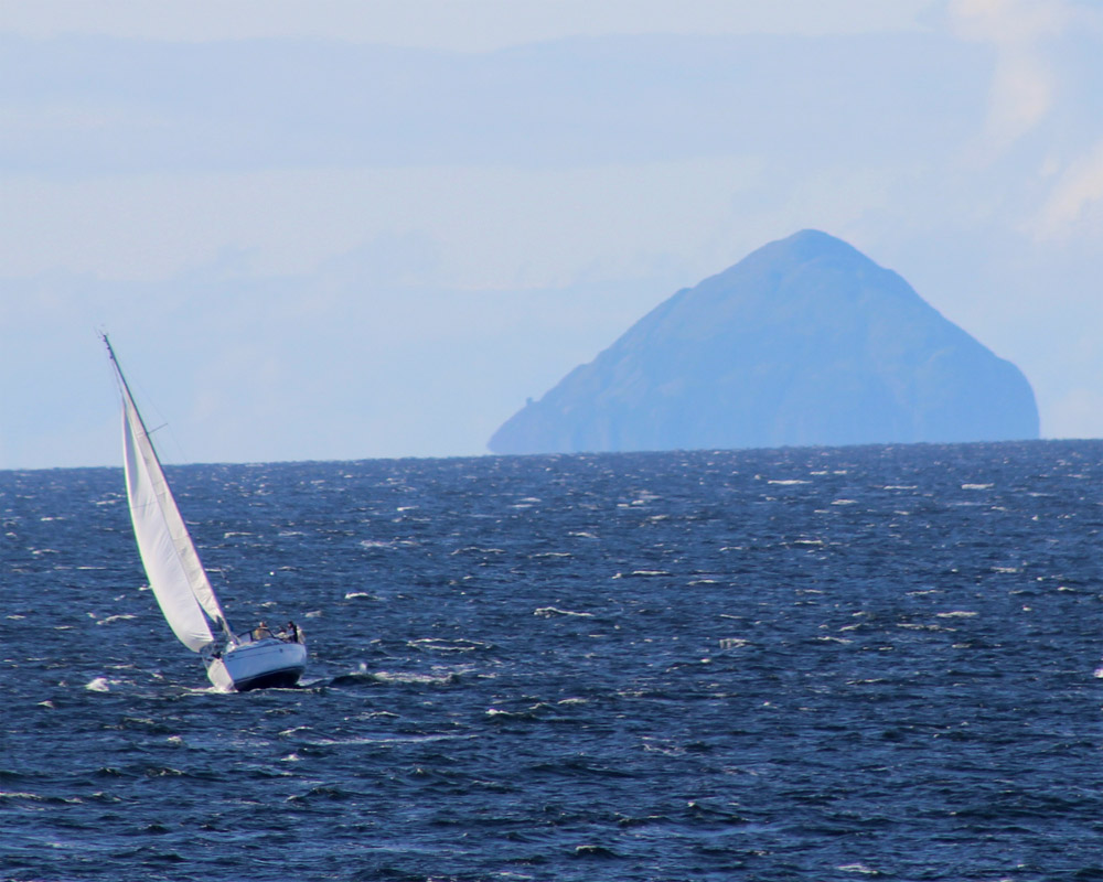 Yacht and Ailsa Craig