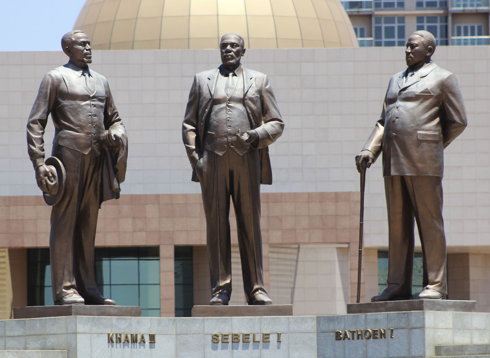 The Three Dikgosi Monument