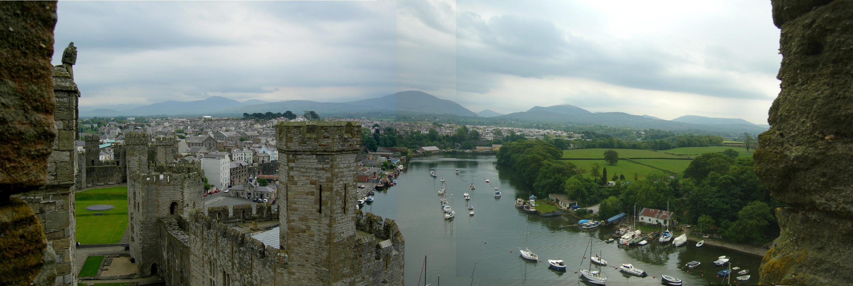 Caernarfon Castle Panoramic View